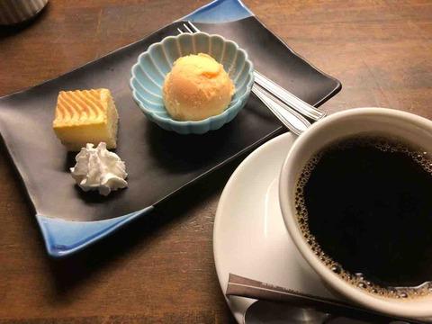 『居食座空 遊冶郎』デザート、珈琲