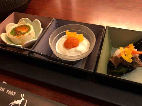 「旬菜 月兎 江南店」ランチ前菜
