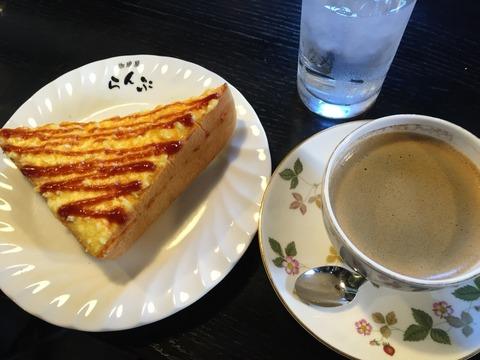 「珈琲屋らんぷ 江南店」でモーニング
