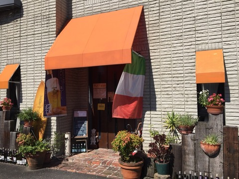 『イタリア系 旬の創作料理 百葉箱』店舗入口