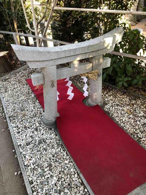 「北野天神社」狭き門をくぐって合格祈願