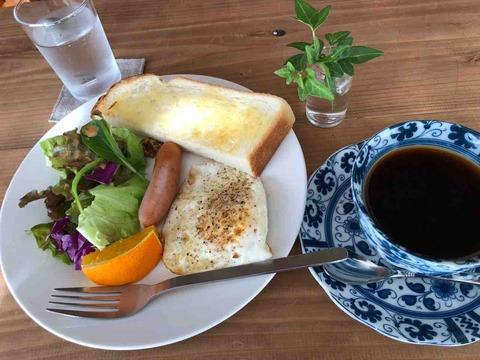 『Cafe & 手作り雑貨 小さなお店4april』モーニングset