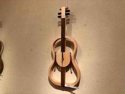 『木工 中村幸人 ―木の調べ展ー』バイオリンの時計