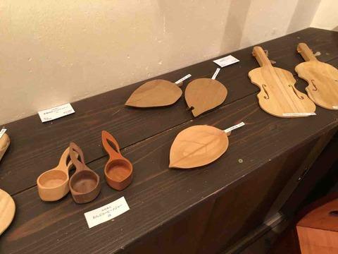 『木工 中村幸人 ―木の調べ展ー』お皿やスプーン