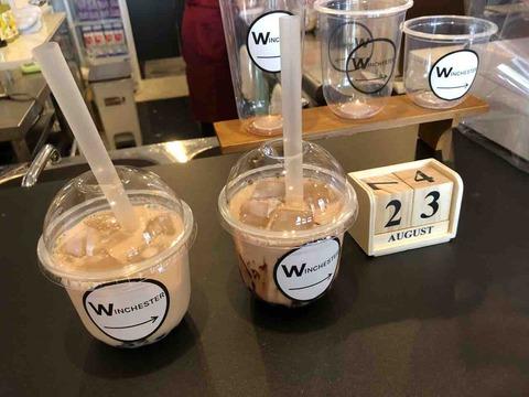 『DARTS & BAR WINCHESTER』キャラメルミルクティー、チョコレートミルクティー