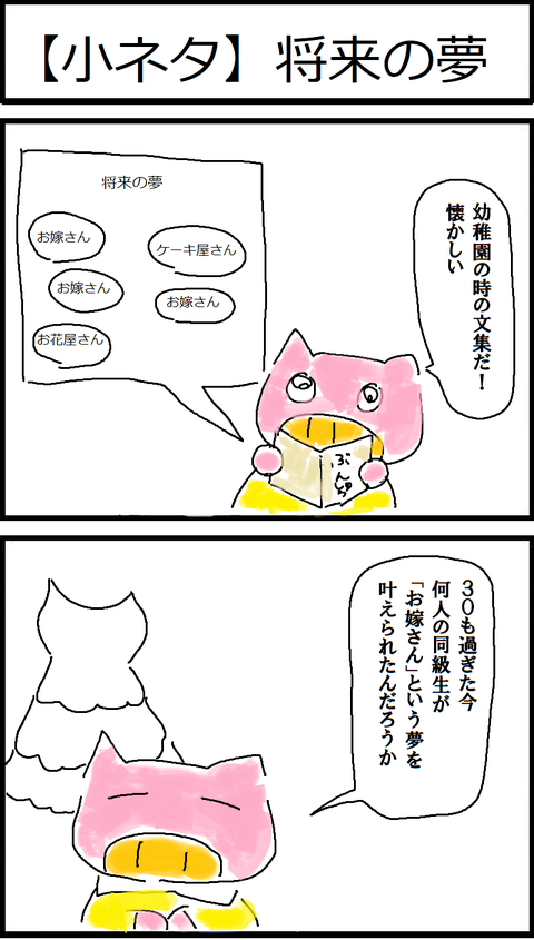 【小ネタ】将来の夢