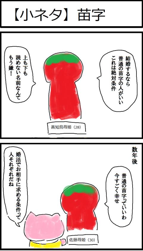 【小ネタ】苗字