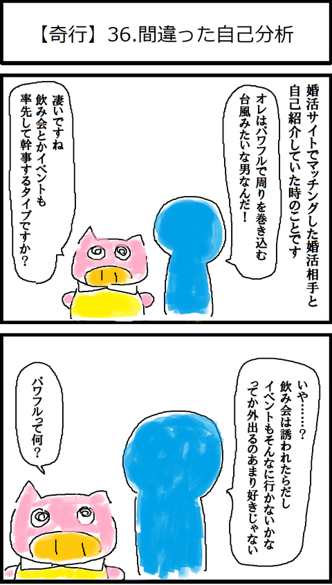 【奇行】36.間違った自己分析