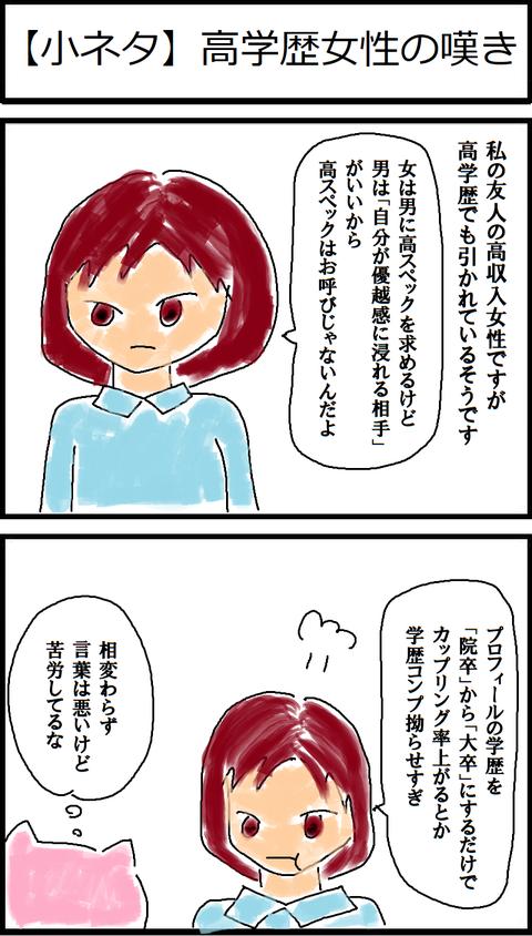 【小ネタ】高学歴女性の嘆き