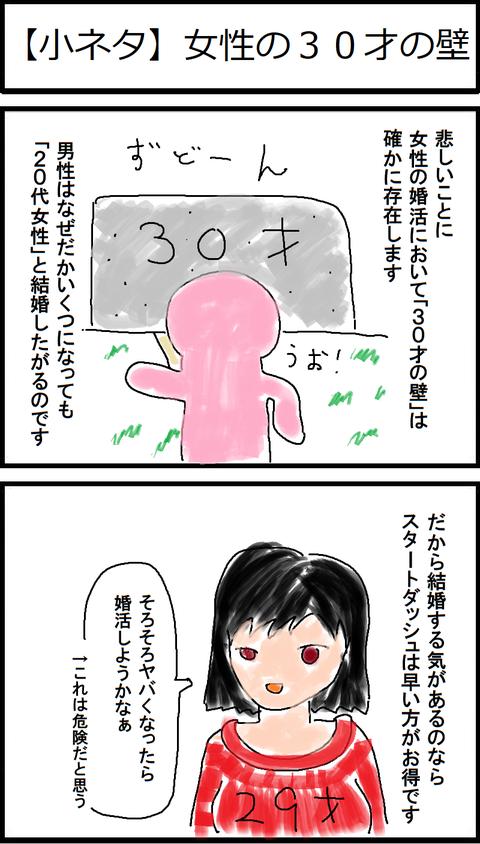 【小ネタ】女性の30才の壁