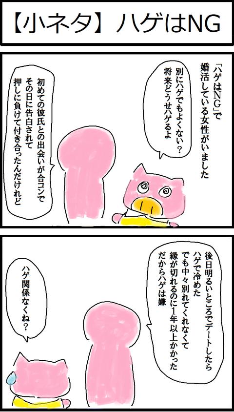 【小ネタ】ハゲはNG