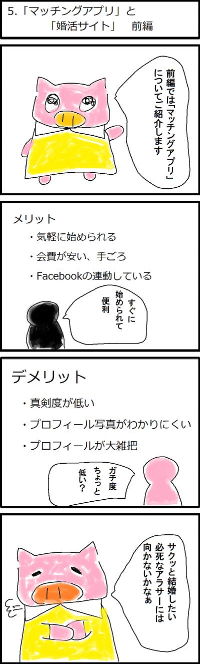 5.「マッチングアプリ」と「婚活サイト」前編