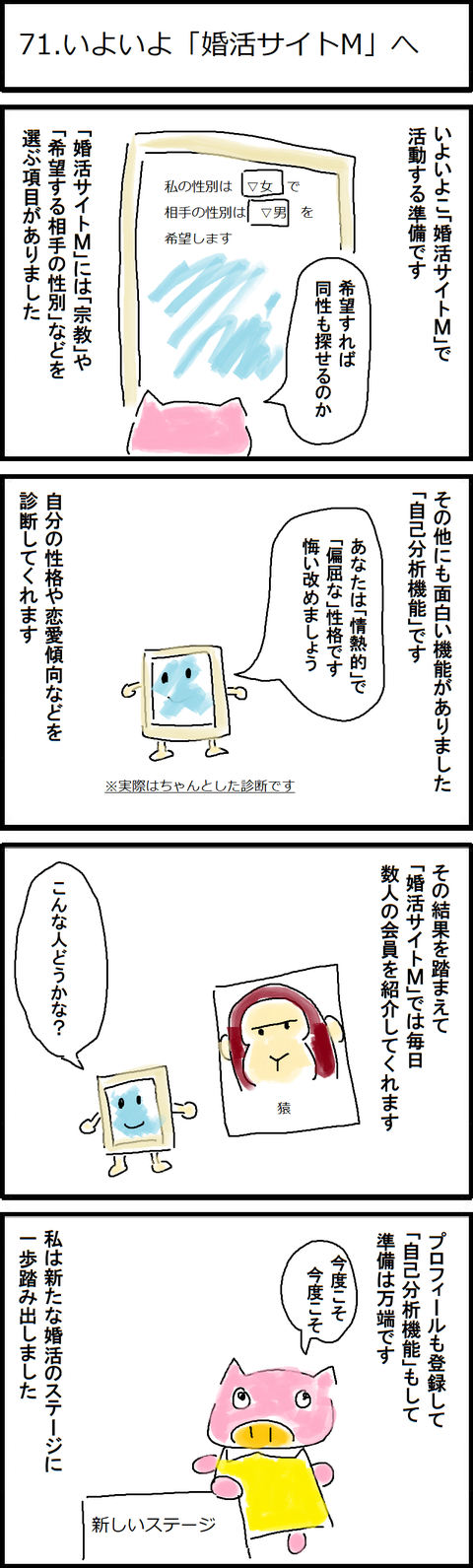 71.いよいよ「婚活サイトM」へ