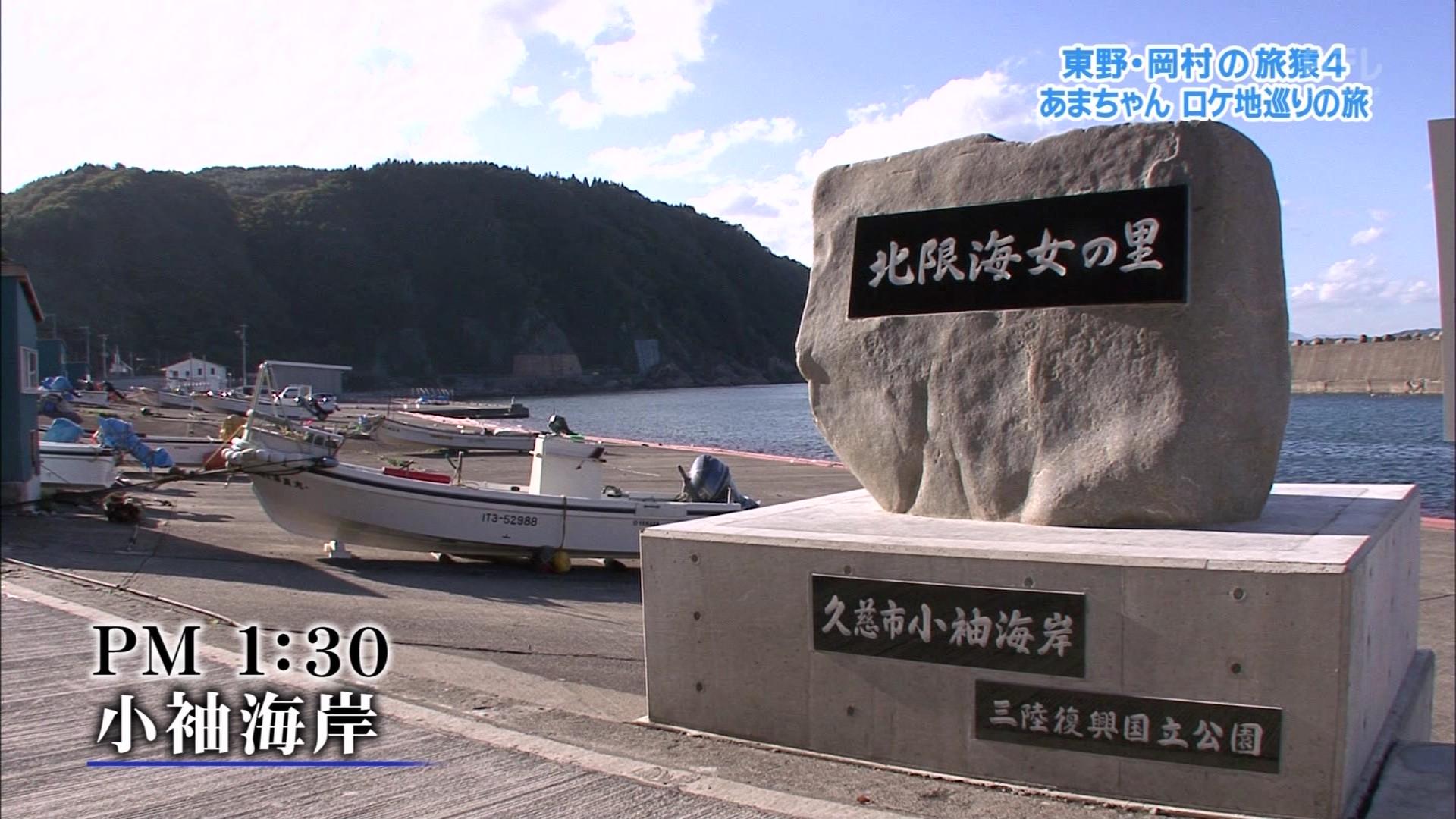 こんなテレビを見た。  東野・岡村の旅猿4 「あまちゃんロケ地巡りの旅」3週目コメント