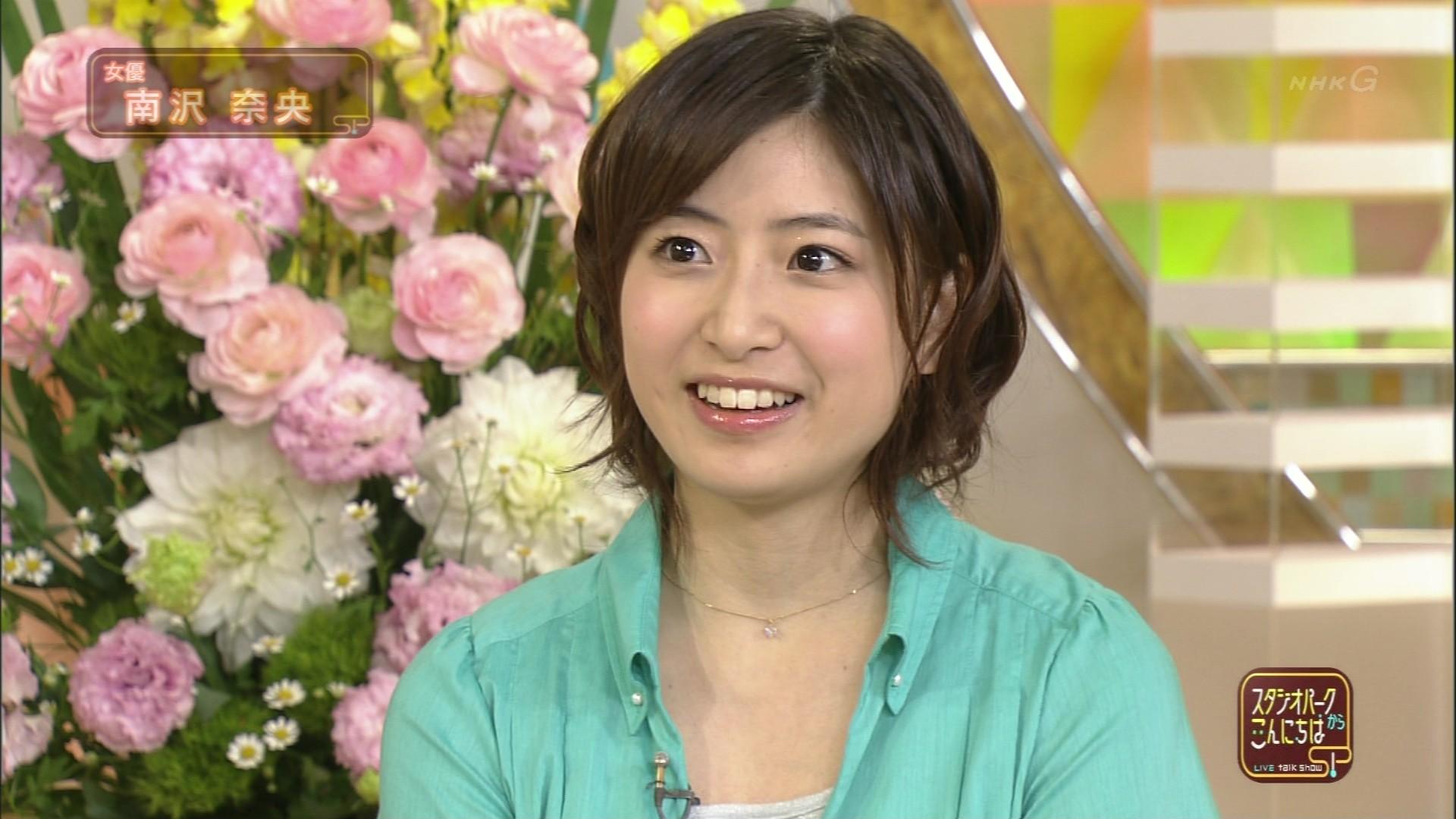 テレビ出演中の南沢奈央