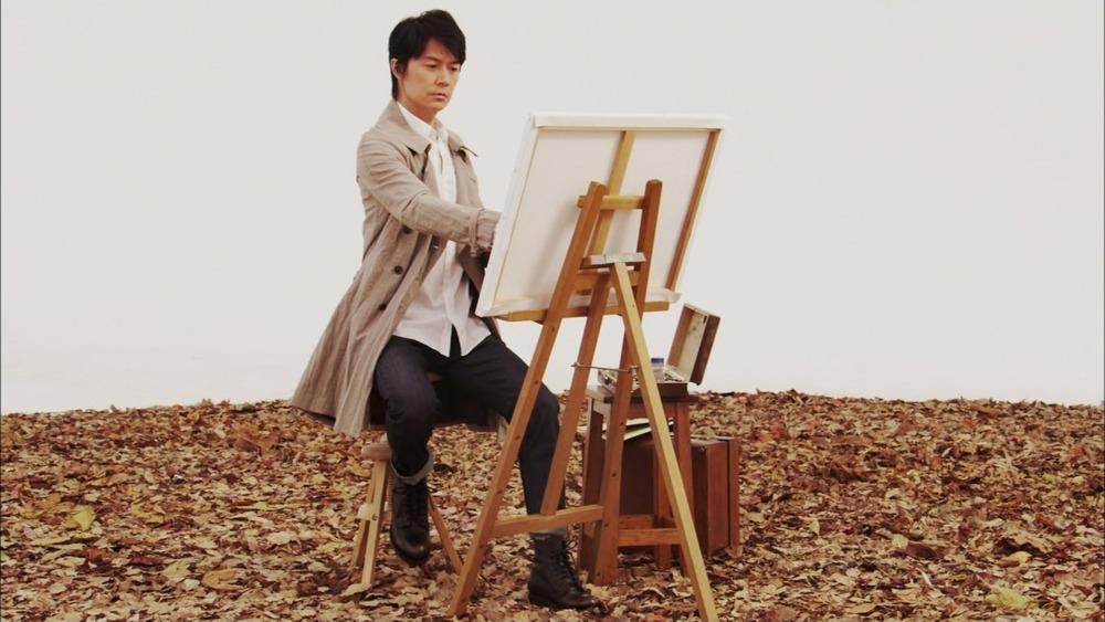 絵を描く福山雅治画像