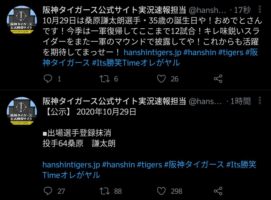 阪神タイガース、選手の誕生日にとんでもないプレゼントをしてしまう