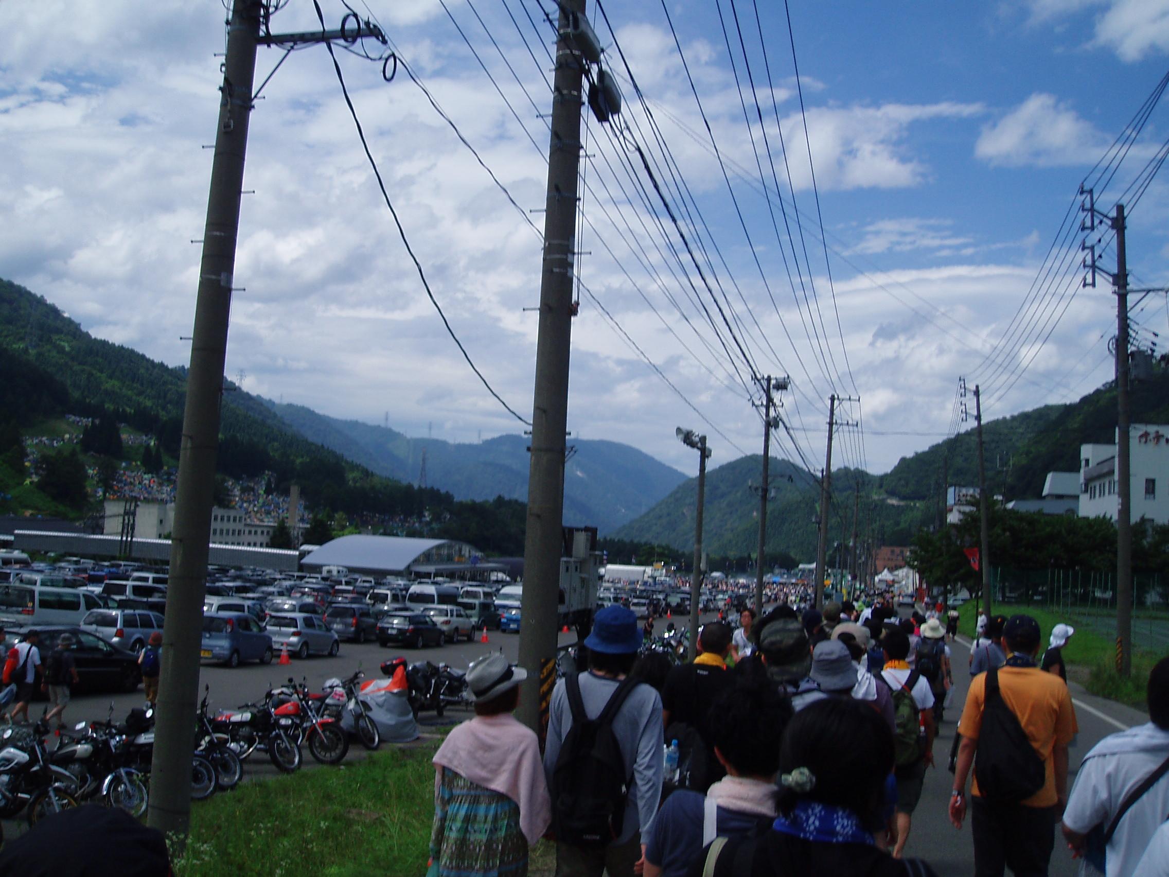 FUJI ROCK'09 2日目朝