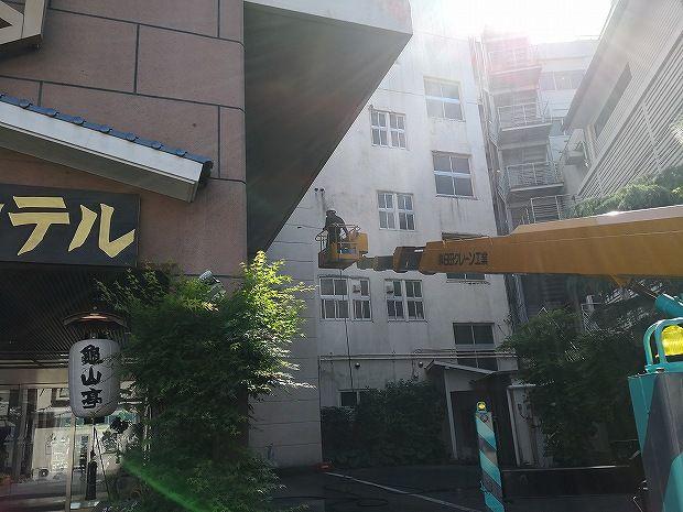 日田温泉 亀山亭ホテルの外壁の掃除と畳替え (10)