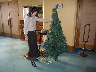 クリスマスツリー片付け