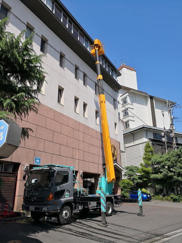 日田温泉 亀山亭ホテルの外壁の掃除と畳替え (14)