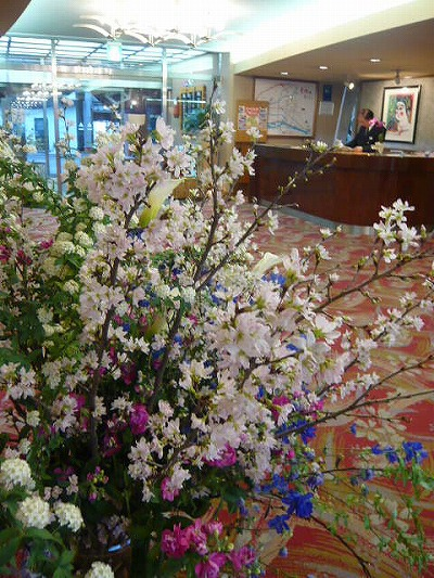 花のロビー 日田温泉 旅館 ホテル