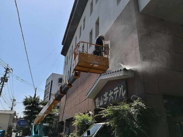 日田温泉 亀山亭ホテルの外壁の掃除と畳替え (12)