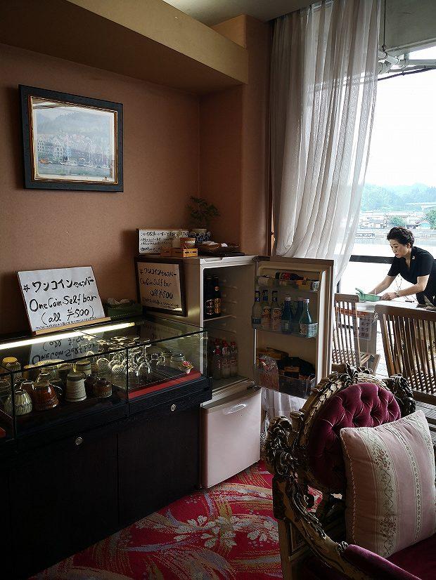 日田温泉 亀山亭ホテルのワンコインセルフバー好評です