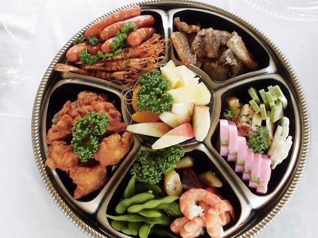 地元日田市のお客様方に屋形船を  お料理(5)