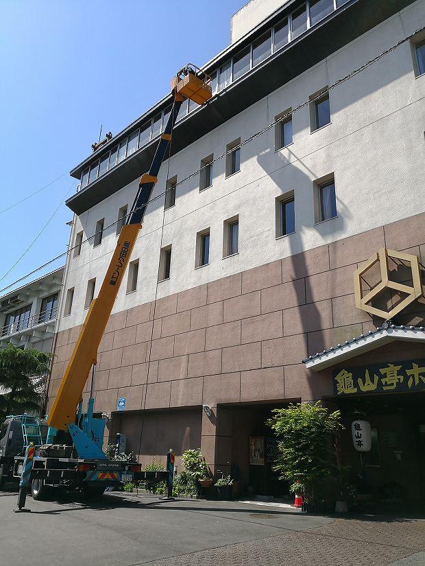 日田温泉 亀山亭ホテルの外壁の掃除と畳替え (11)
