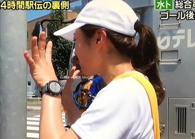 水卜 麻美(日本テレビアナウンサー) ガーミン フォアアスリート 245 ブラックスレート 『密着!24時間駅伝舞台ウラ~4人でつないだ148キロ』より