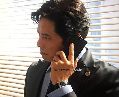 織田 裕二 カルティエ タンクMC オートマティック  ブラック文字盤 『SUITS/スーツ』より