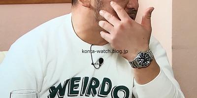 ケンドーコバヤシ チュードル イカサブマリーナ 40mm ブラック文字盤