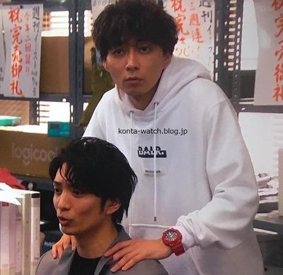 渋谷 謙人 カシオ Gショック コンビネーションモデル ブラック × レッド 『知らなくていいコト』より