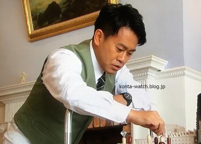 宮川 大輔 モンディーン エッセンス 41mm ブラックダイヤル 崖っぷちホテル!より