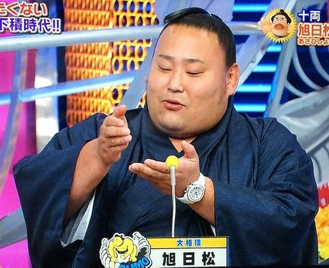 旭日松 広太(大相撲力士) シャネル J12 オートマティック クロノグラフ 9Pダイヤ