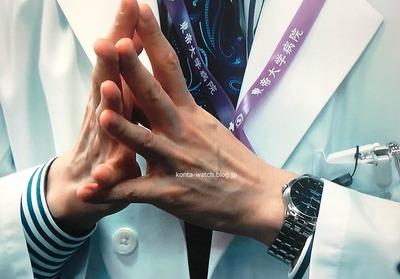 野村 萬斎 ボーム&メルシエ クリフトン ボーマティック COSC 『Doctor-X 外科医・大門未知子』より