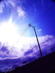 空と雲と電線