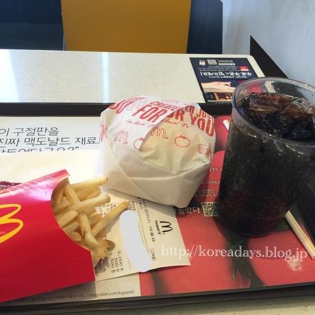 韓国マクドナルドのリコッタ上海バーガー