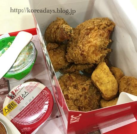 韓国KFCのクリスピーチキン♪