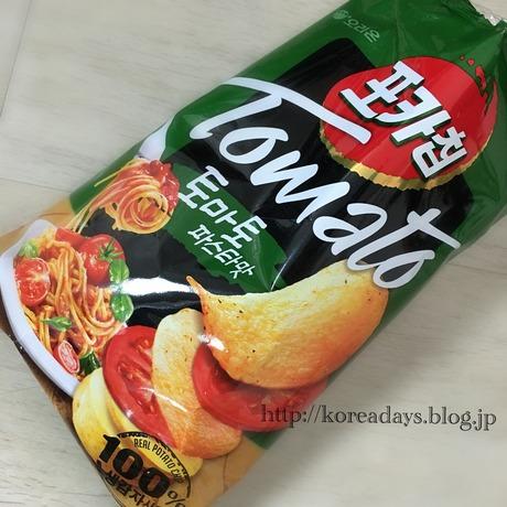 本当にトマトパスタの味がするポテトチップス♪