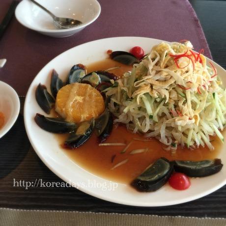 韓国のクラゲの冷菜ヘパリネンチェ