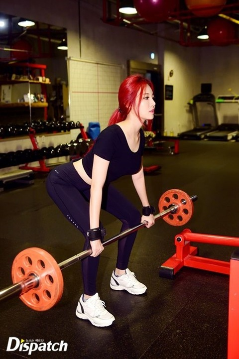 ガールズデイ ユラのトレーニング姿160606 (17)