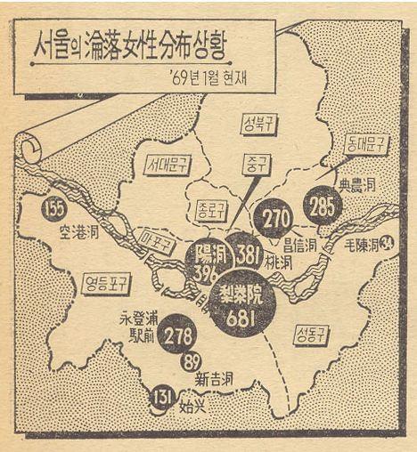 雑誌サンデーソウル1969年1月「大韓民国最初の赤線地域実態白書」