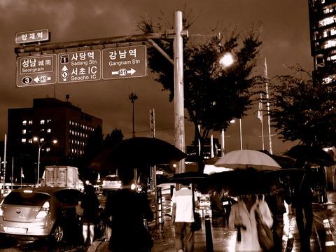 右・江南濡れ駅方面