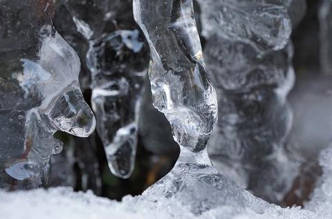 上野⑤氷のひと時(七曲滝)