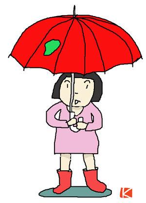 赤い傘-s