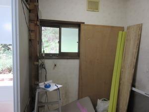洗面壁と床