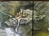 ふすまの龍の絵