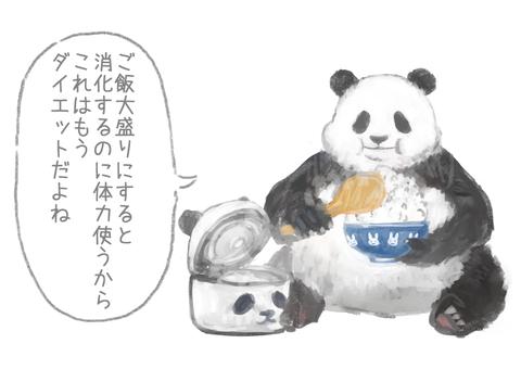 悪いことを言うパンダ4-2